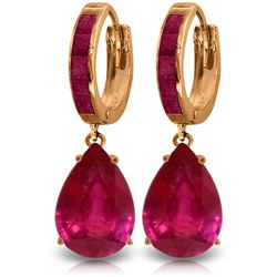 Genuine 11.30 ctw Ruby Earrings Jewelry 14KT Rose Gold - REF-118V8W