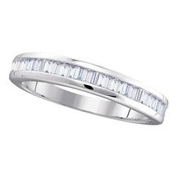 0.50 CTW Diamond Wedding Anniversary Ring 10KT White Gold - REF-24K2W
