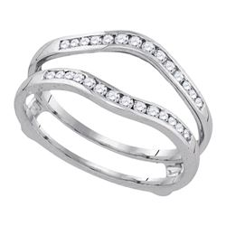 0.50 CTW Diamond Bridal Wedding Enhancer Ring 14k White Gold - REF-52F4N