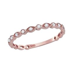 0.13 CTW Diamond Stackable Ring 10KT Rose Gold - REF-14K9W