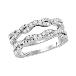 0.50 CTW Diamond Ring 14KT White Gold - REF-67N4F