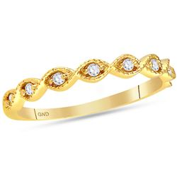 0.10 CTW Diamond Stackable Ring 14KT Yellow Gold - REF-22N4F