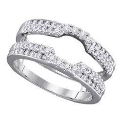 0.50 CTW Diamond Wrap Ring 14KT White Gold - REF-75H2M