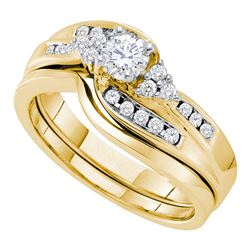 0.50 CTW Diamond Bridal Wedding Engagement Ring 14KT Yellow Gold - REF-89N9F