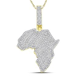 0.62 CTW Diamond Pendant 10KT Yellow Gold - REF-61Y2N