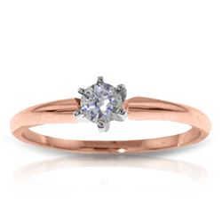 Genuine 0.15 ctw Diamond Anniversary Ring Jewelry 14KT Rose Gold - REF-76T2A