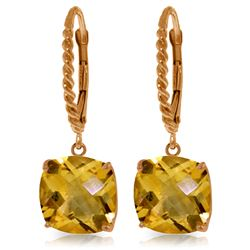 Genuine 7.2 ctw Citrine Earrings Jewelry 14KT Rose Gold - REF-48M3T