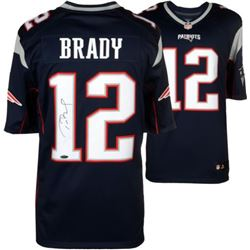 Tom Brady New England Patriots Signed Nike Limited Football Jersey: Tri-Star COA