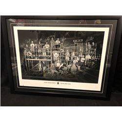 "TORONTO MAPLE LEAFS ""NEW MEMORIES NEW DREAMS"" TEAM SIGNED 32"" X 24"" FRAMED PRINT"