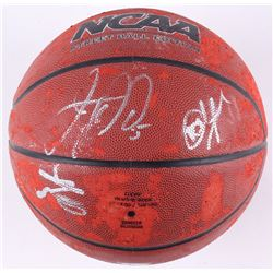 Jason Kidd & George Gervin Signed Wilson NCAA Basketball with (1) other (JSA COA)