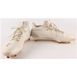 Adeiny Hechavarria Signed Pair of Game-Used Baseball Cleats (Celebz Direct LOA)