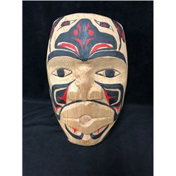 "NATIVE ART HANGING WALL MASK BY DESMOND SMITH (8"" X 12"")"