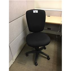 BLACK FULLY ADJUSTABLE ERGONOMIC TASK CHAIR, NO ARMS