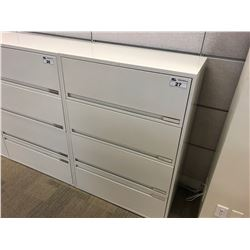 OFF WHITE 4 DRAWER LATERAL FILE CABINET