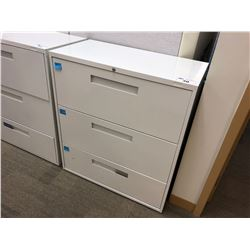 OFF WHITE 3 DRAWER LATERAL FILE CABINET