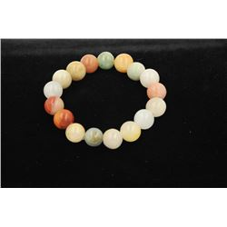 18RPS-35 COLOR JADE BEAD BRACELET