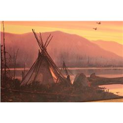 18JZ-9 SMALL TEPEE PAINTING