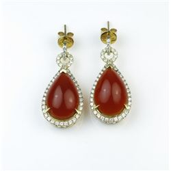 18CAI-37 FIRE OPAL EARRINGS
