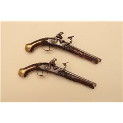 18GV-8 PAIR OF SNAPHANCE FLINTLOCK PISTOLS