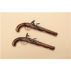 18GV-12 PAIR OF 18TH CENTURY FLINTLOCK PISTOLS