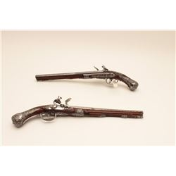 18GV-1 PAIR OF GIO BONAZO ITALIAN FLINTLOCK PISTOL