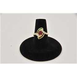 18RPS-24  MULTI COLOR STONE RING