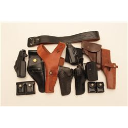 18KN-1 LOT OF LEATHER GEAR, HOLSTERS, BELTS, ETC.