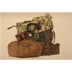 18KN-4 LOT OF WEB GEAR, CANTEENS, BAGS, ETC.