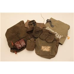18KN-5 LOT OF WEB GEAR, AMMO POUCHES, SLINGS, ETC.