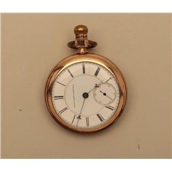 18KB-4 POCKET WATCH ELGIN 15-17 JEWELS 14K 1880