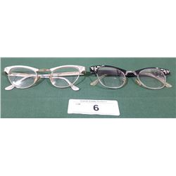 2 PAIRS OF VINTAGE ART CRAFT LADIES CAT-EYE GLASSES