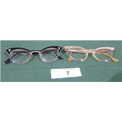 2 PAIRS OF VINTAGE CAT-EYE LADIES EYE GLASSES