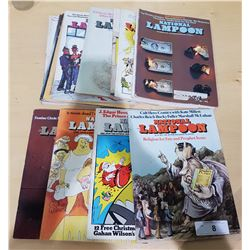 14 VINTAGE 1970'S NATIONAL LAMPOON MAGAZINES