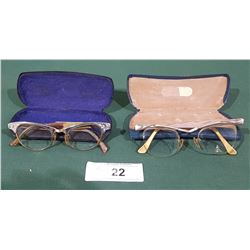 2 VINTAGE LADIES CAT-EYE GLASSES