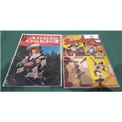 10 CENT SIX-GUN HEROES & 12 CENT ANNIE OAKLEY COMICS