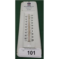 VINTAGE CHEVRON HOPE,BC THERMOMETER