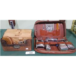 2 VINTAGE TRAVEL VANITY SETS