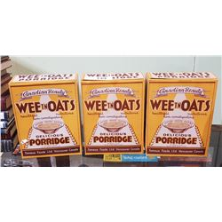3 VINTAGE WEET N OATS CEREAL BOXES-UNUSED
