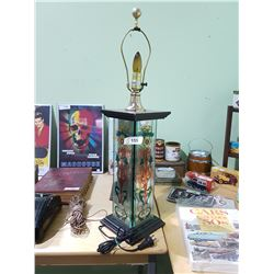 VINTAGE STAINED GLASS TABLE LAMP