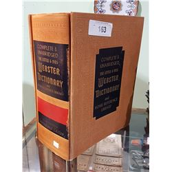 VINTAGE WEBSTER DICTIONARY C.1962