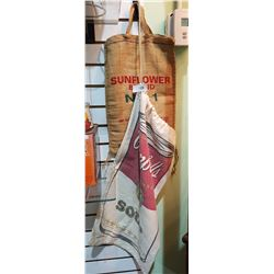 VINTAGE CAMPBELL'S SOUP CLOTH BAG & BURLAP RICE BAG