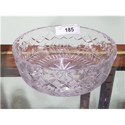 CRYSTAL BOWL W/ETCHED FLOWER DESIGN
