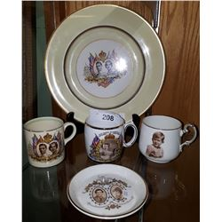 5 PCS COLLECTIBLE ROYALTY CHINA