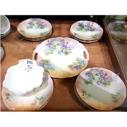 VINTAGE 13 PC PORCELAIN LUNCH SET