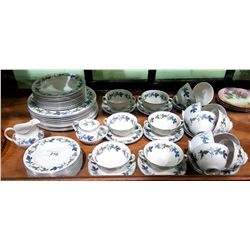"67 PC ROYAL DOULTON ""BURGUNDY"" CHINA SET"