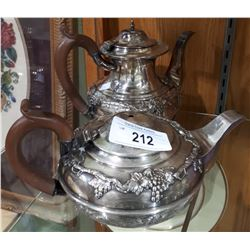 ANTIQUE ORNATE SILVERPLATE COFFEE & TEAPOT