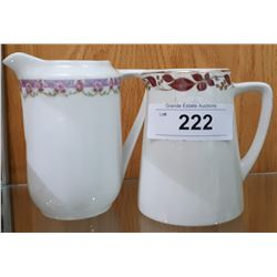 TWO VINTAGE ENGLISH MILK PITCHERS