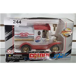 NIB DIE CAST PEPSI TRUCK COIN BANK
