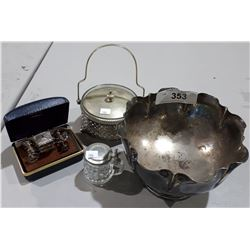 COLLECTION OF SILVER PLATE