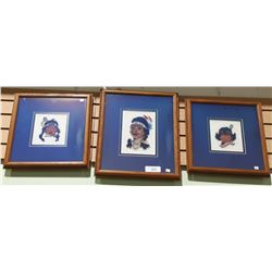 THREE FRAMED NEEDLEPOINTS